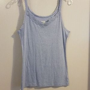 Tops - HELP RESCUE DOG/CANCER♡Blue lace tank XL